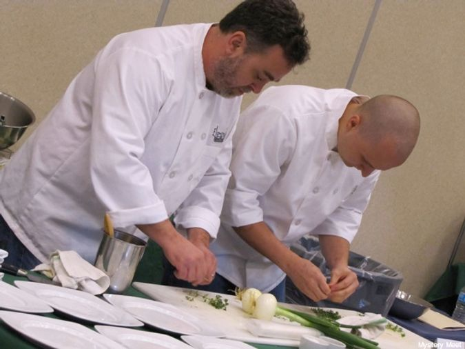 Chef John Mark Lane and Chef Eric Evans at Golden Onion 2012