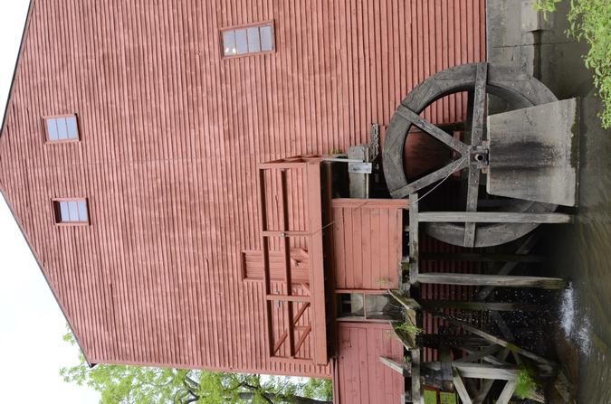 The waterwheel was augmented by a natural gas engine in the late 19th century.