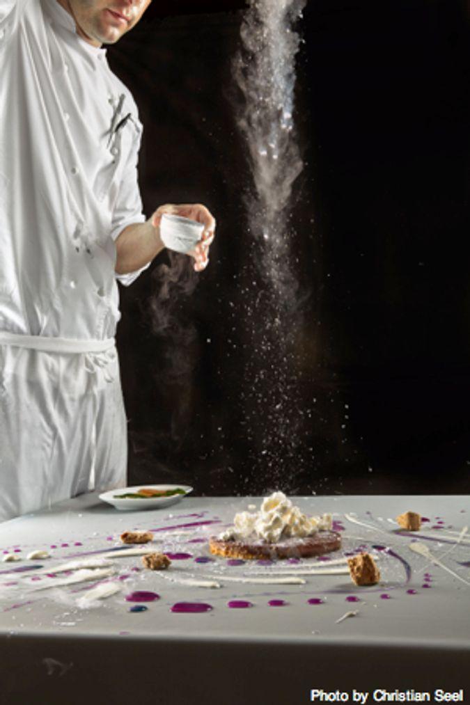 Chef Plating Chocolate