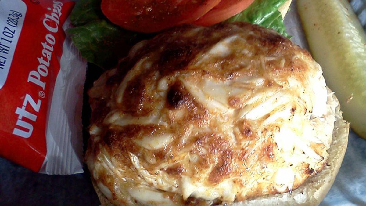 Crab cake at Koco's Pub