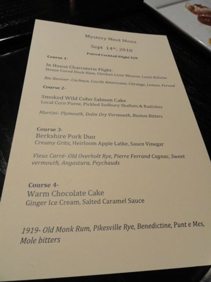 A special menu from chef Michael Scelfo