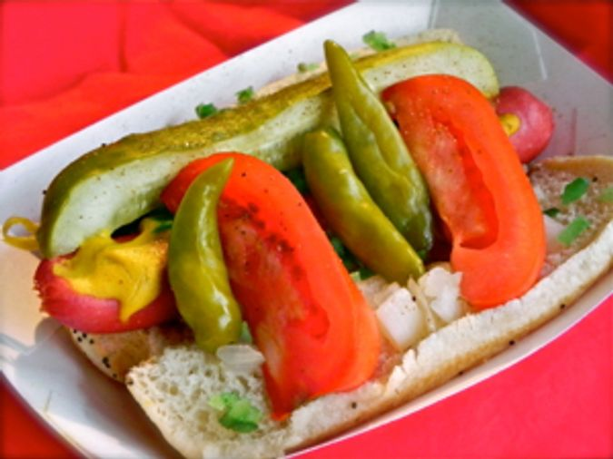 Chicago White Sox Chicago-Style Hot Dog