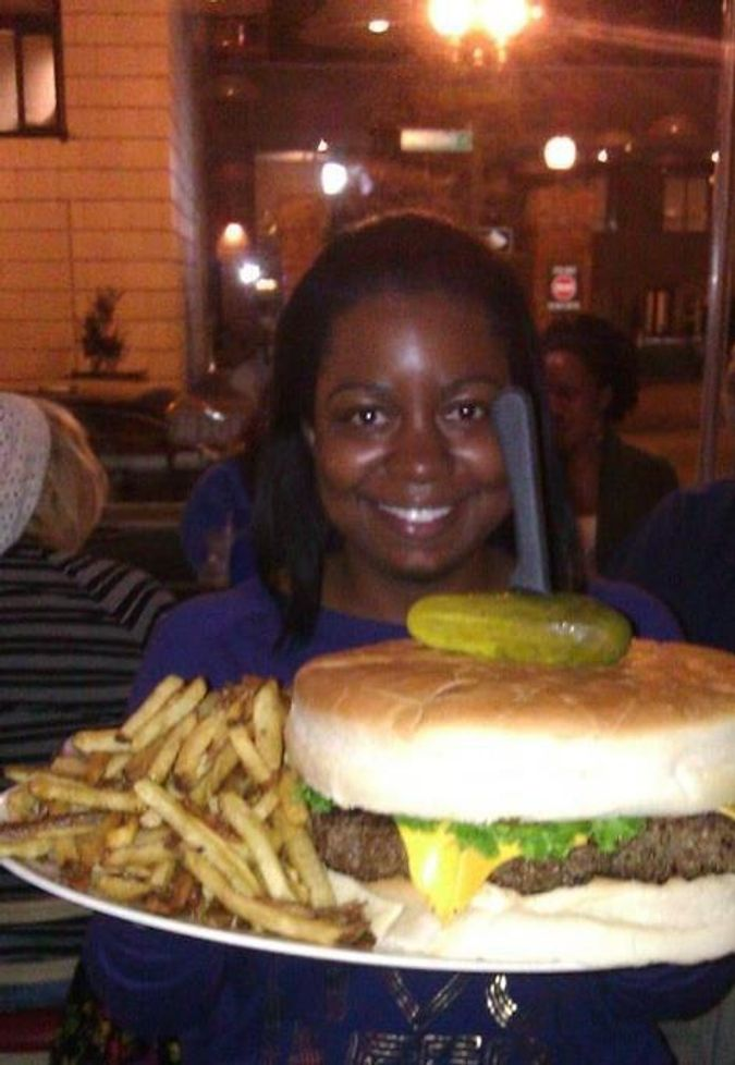 Tiffany Langston with the Kookamonga Burger