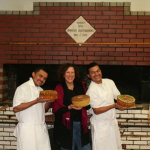 Cindy with the bakers at Scialo's