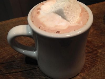 Peanut Butter Hot Chocolate with Homemade Marshmallow