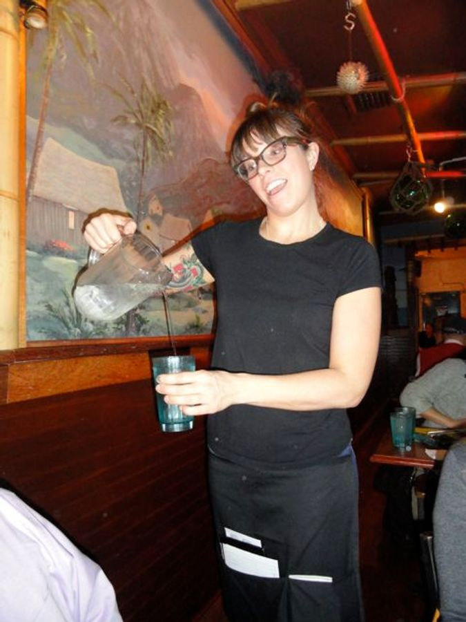 Our friendly server, Jess, kept the water flowing.