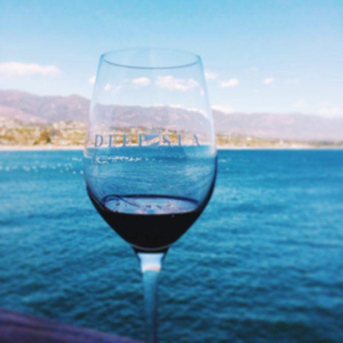 Enjoy a drink by the sea