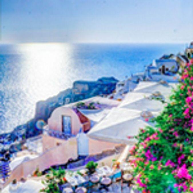 ia, Santorini, Summer, Greece, Island, Sea, Aegean
