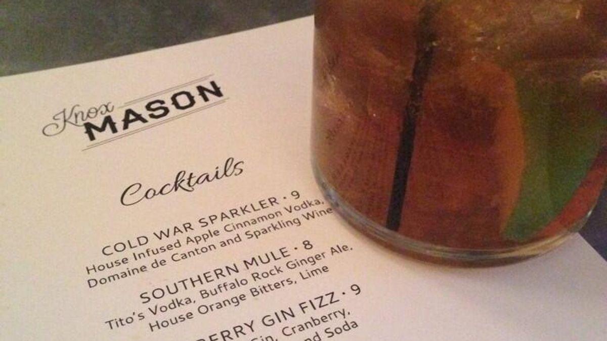 Cocktail Menu at Knox Mason