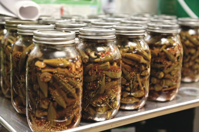 PP&W. Spicy Pickled Okra Image-p.60