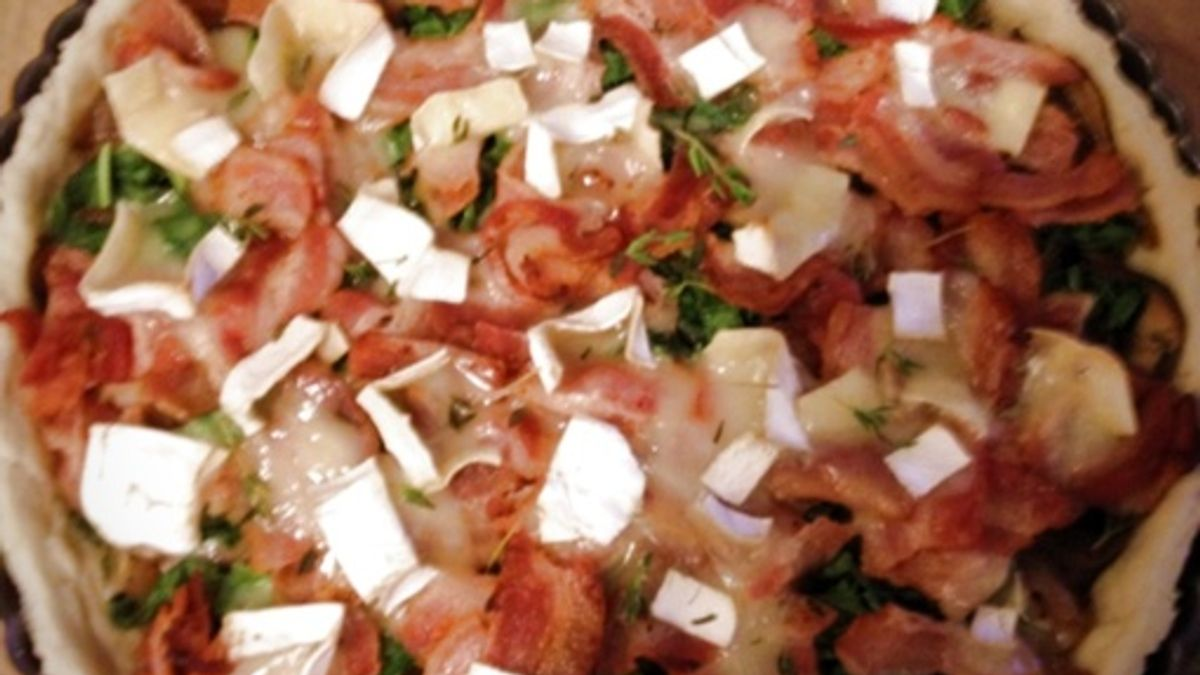 Bacon, Mushroom and Robiola Tart