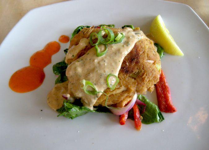 Vegan crab cake at Great Sage