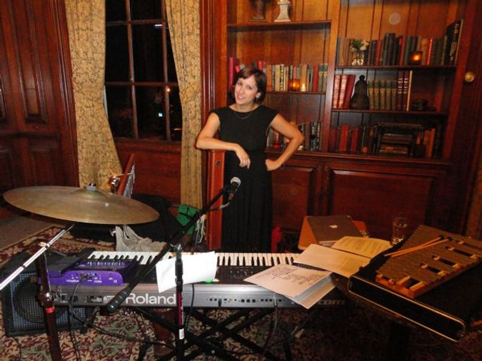 Sonia Carrion performed original music written specifically for Dining in the Dark