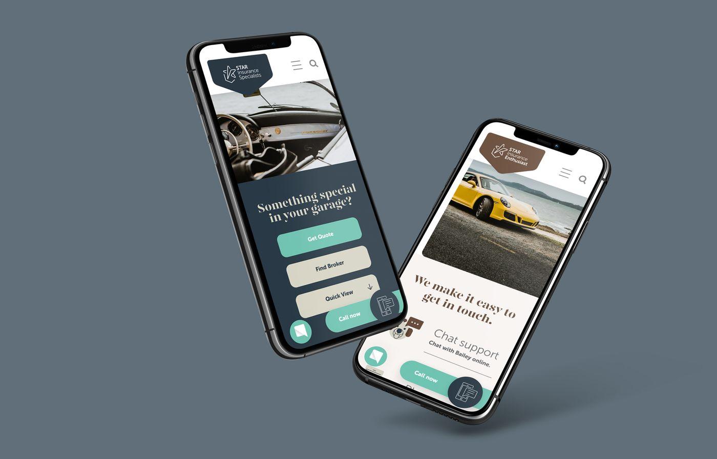 Star insurance website on mobile