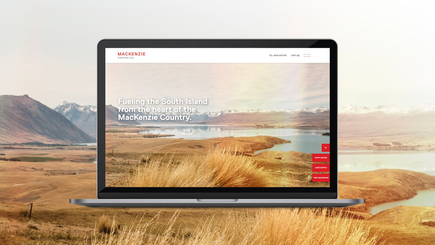 Mackenzie website on laptop