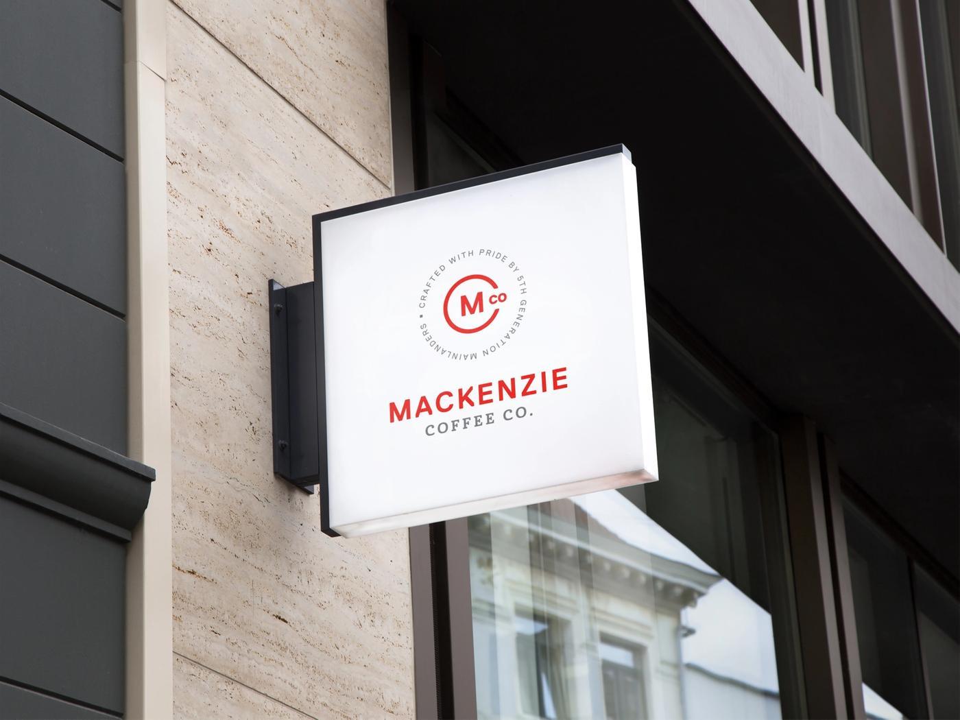 Mackenzie Coffee Co Sign