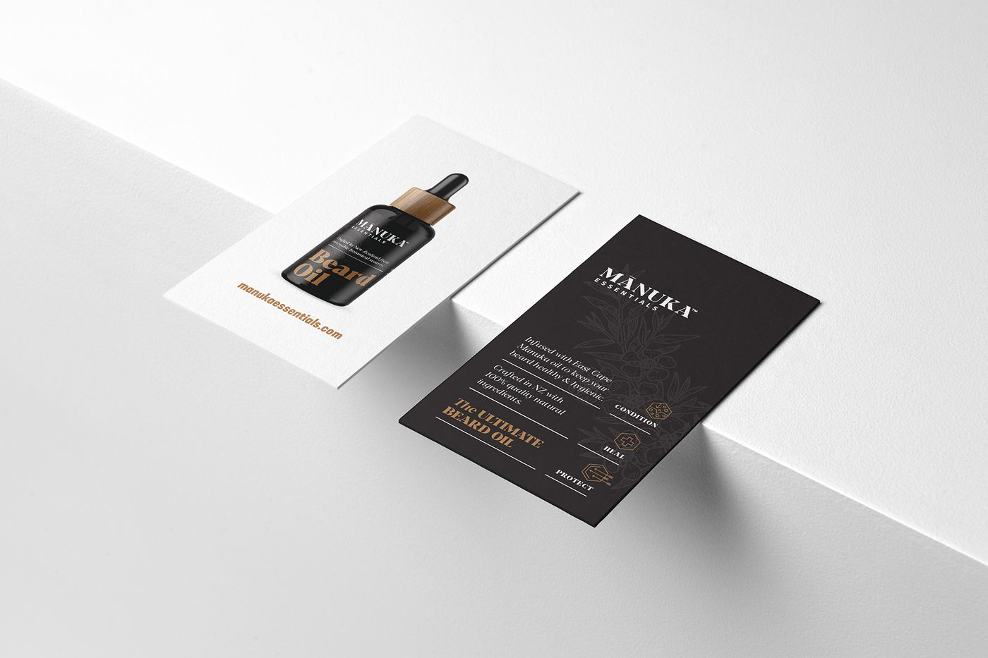 Manuka essentials business cards