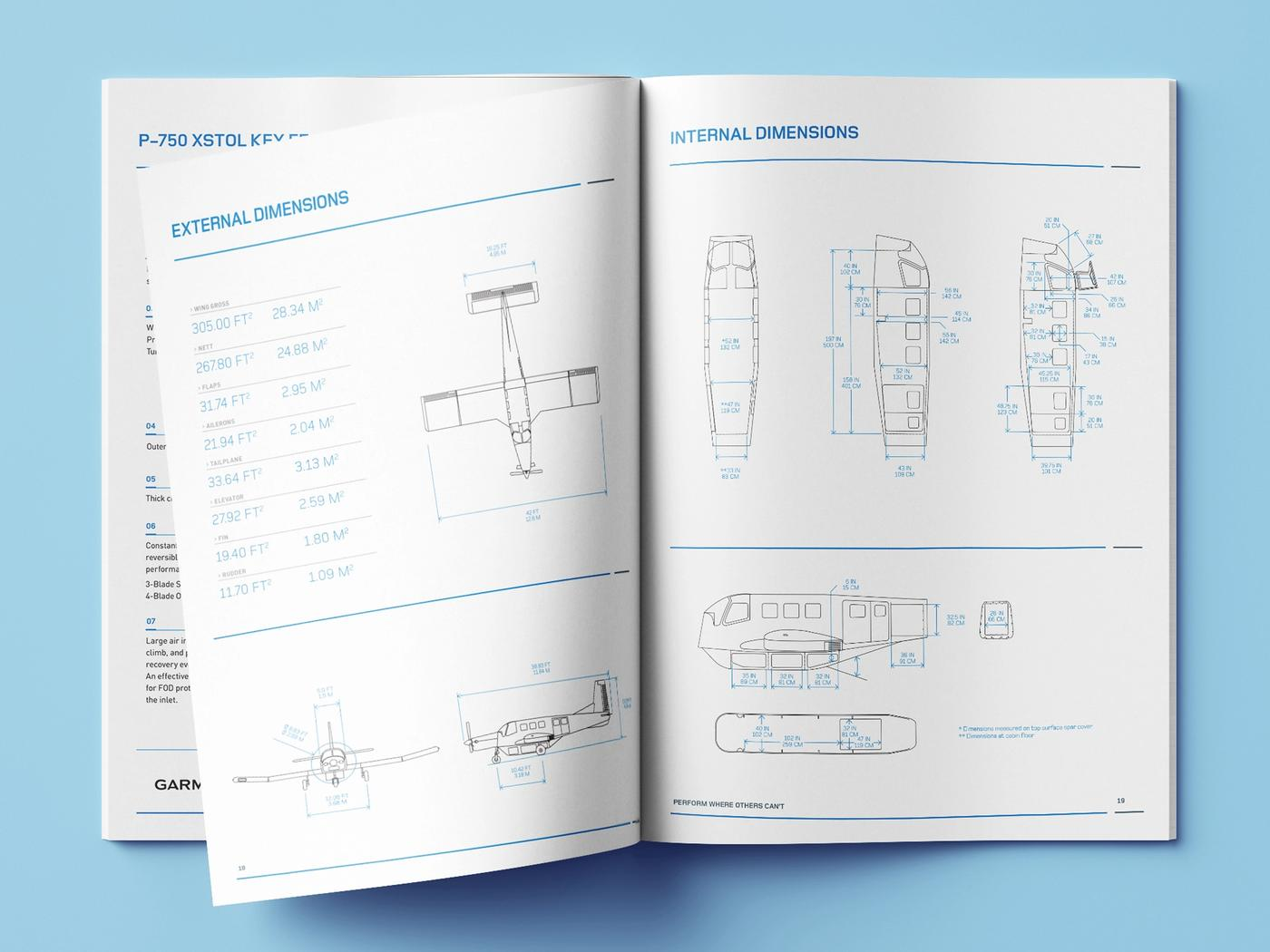 Pacific Aerospace profile document diagrams page