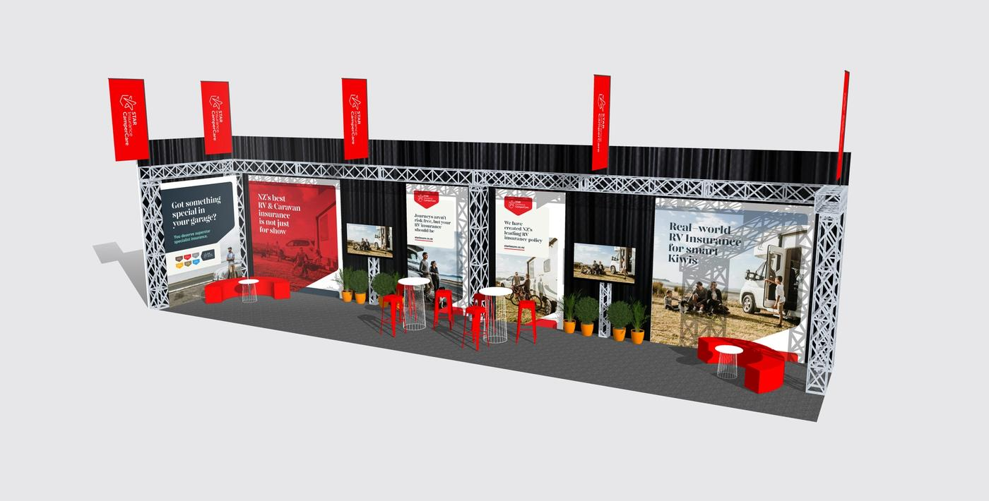 Star Insurance Specialists CamperCare tradeshow render right
