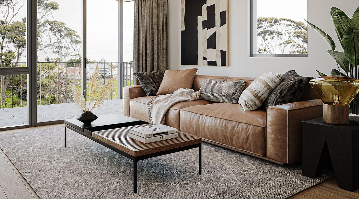 Puhinui Park interior - living room