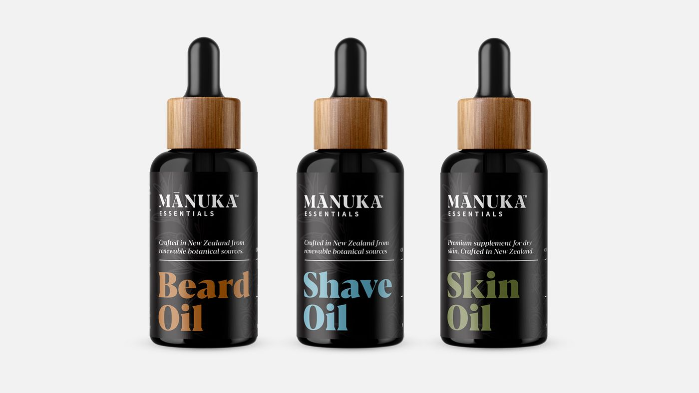 manuka essentials beard oils