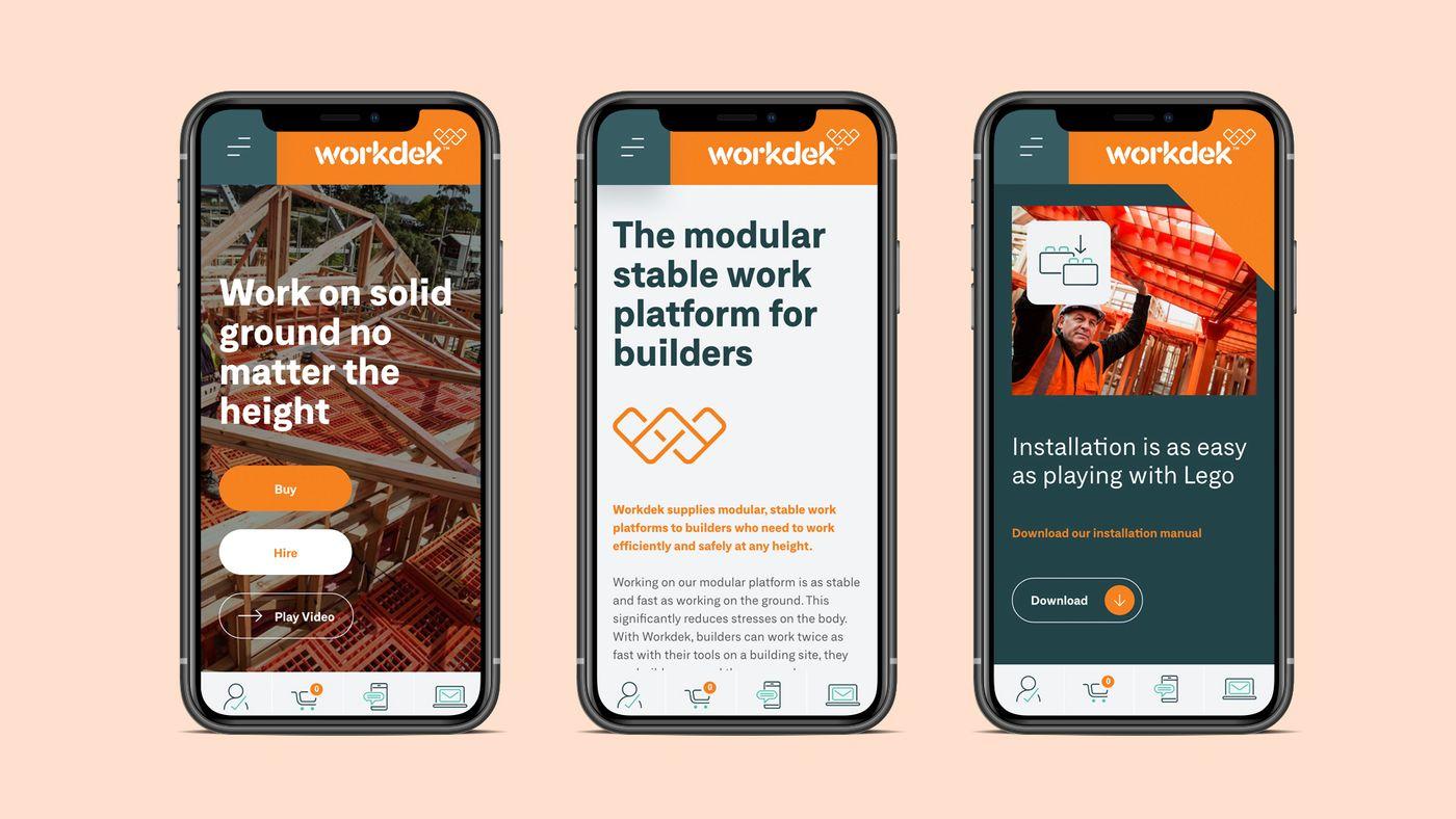 Workdek mobile website iphone