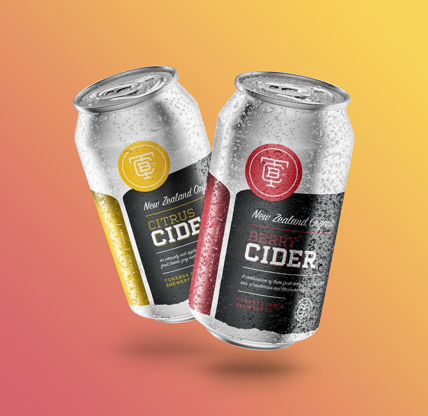 Turanga Creek Cider Cans Citrus and Berry