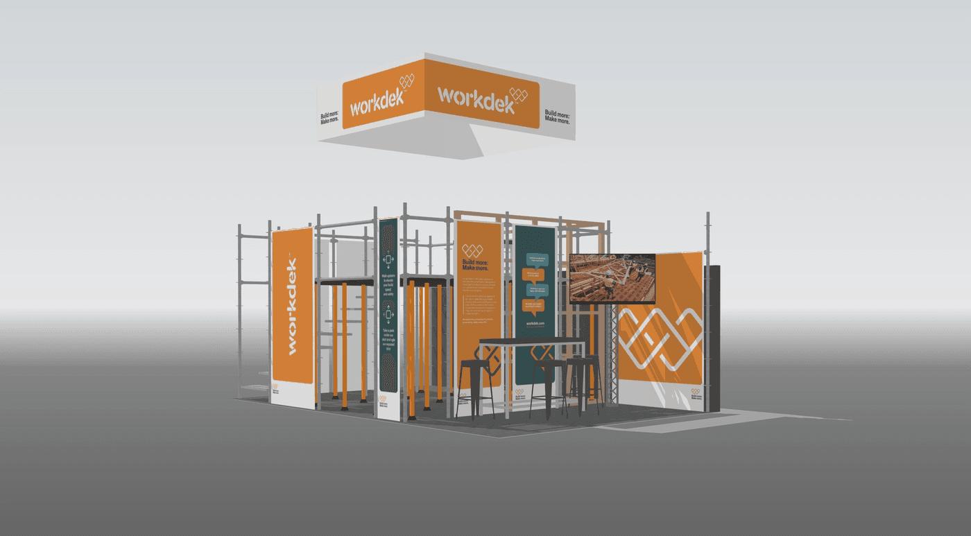 Workdek tradeshow stand render