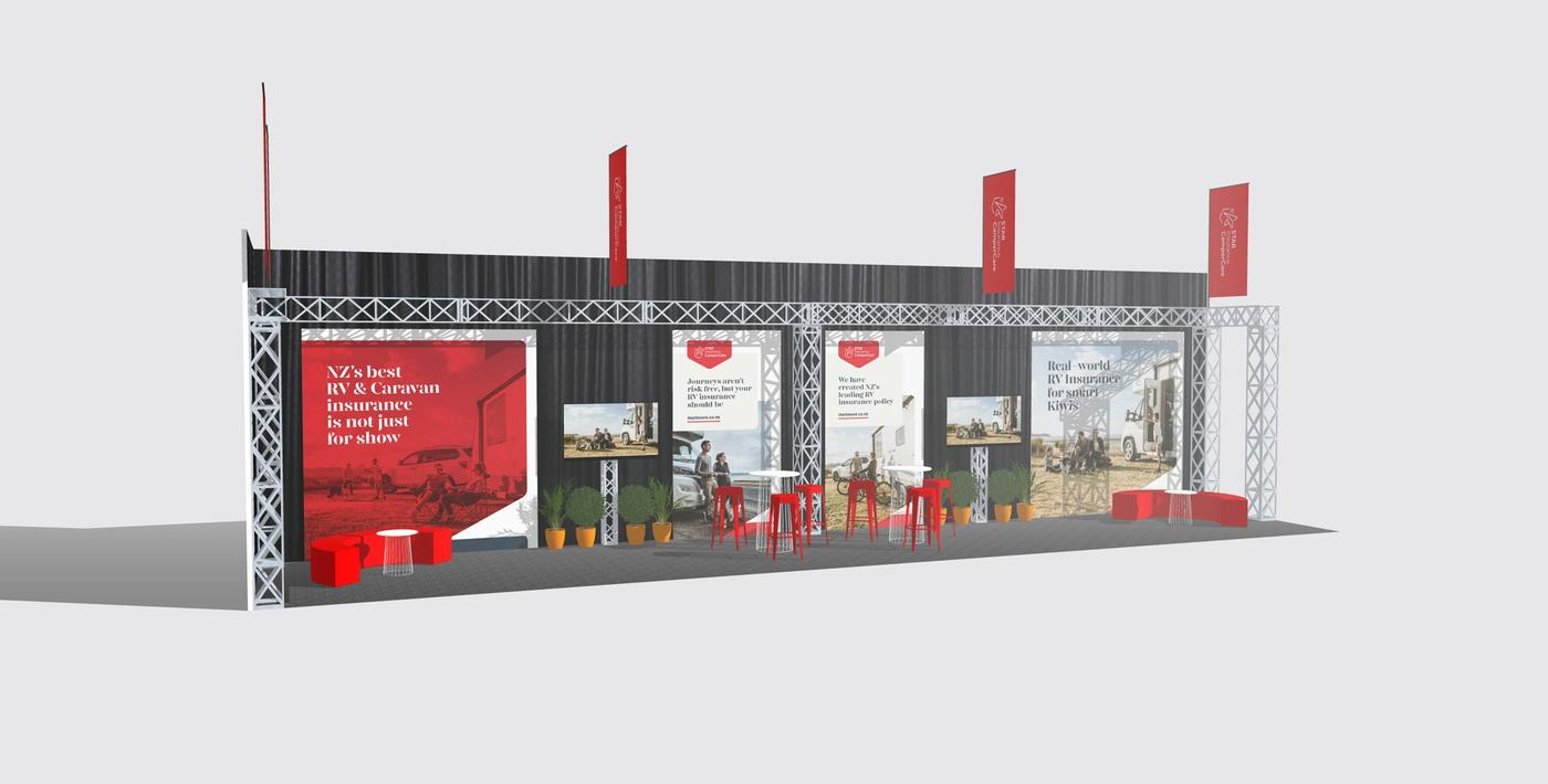 Star Insurance Specialists CamperCare tradeshow render left