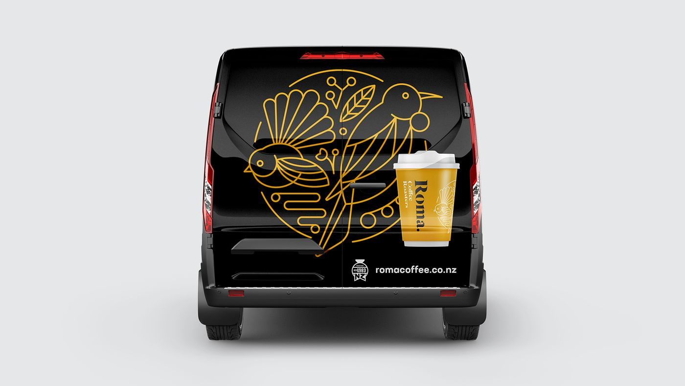 Roma Coffee Ford Transit Van Rear