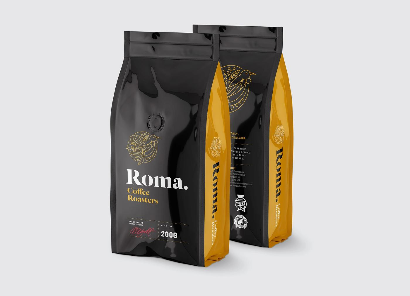 Roma Coffee Roasters 200g bag