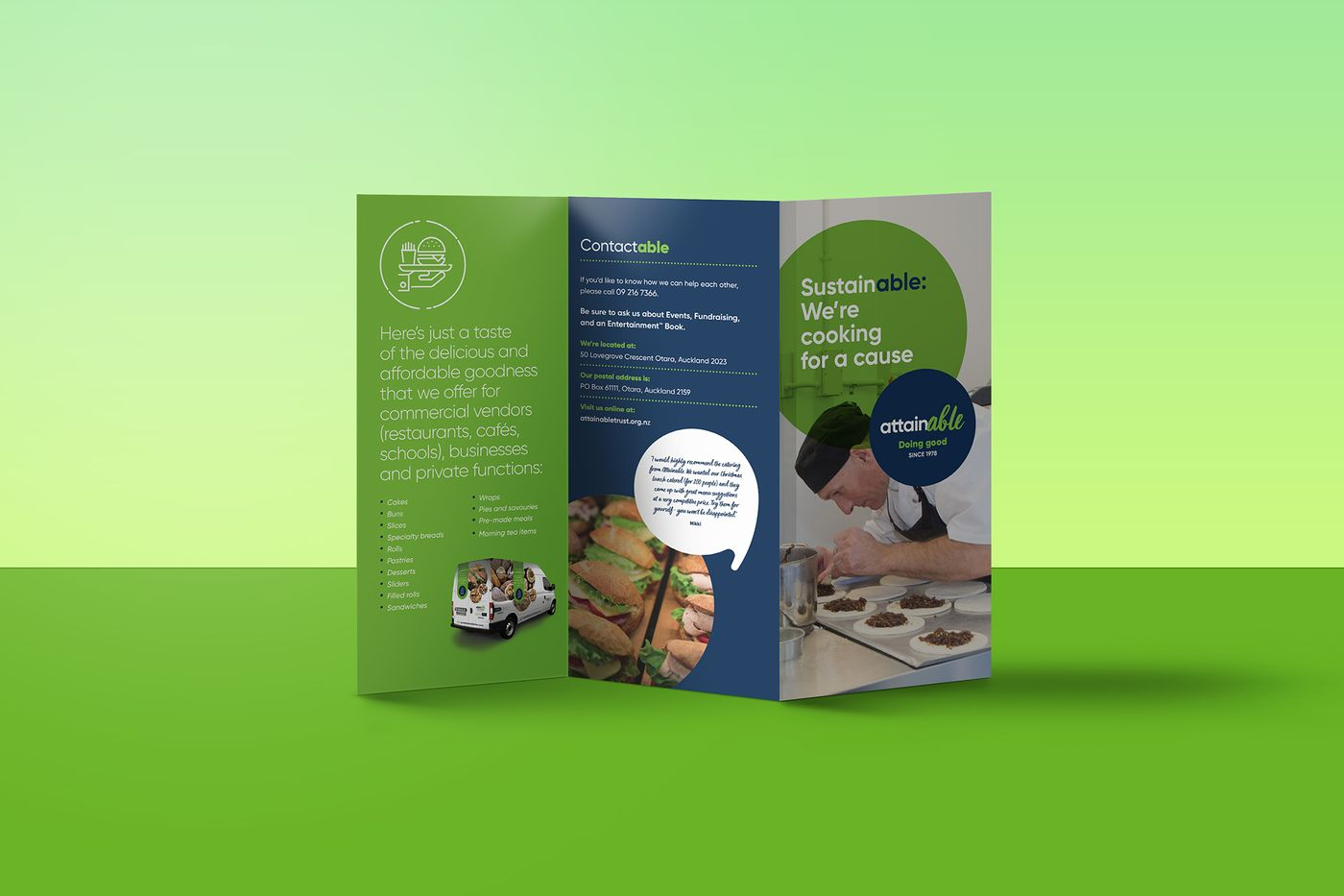 The Good Purpose Kitchen brochure