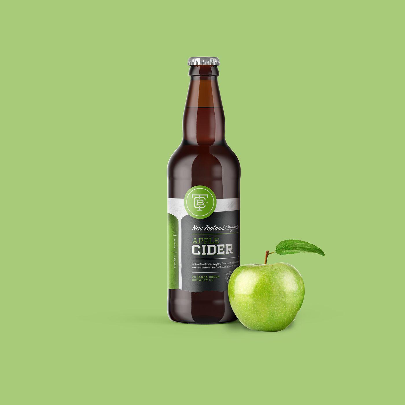 Turanga Creek Cider Bottle Apple