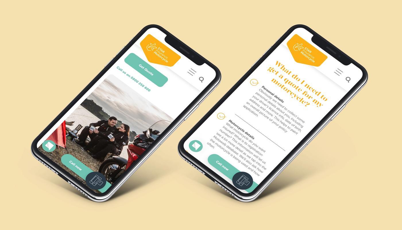 Star insurance website on mobile phones