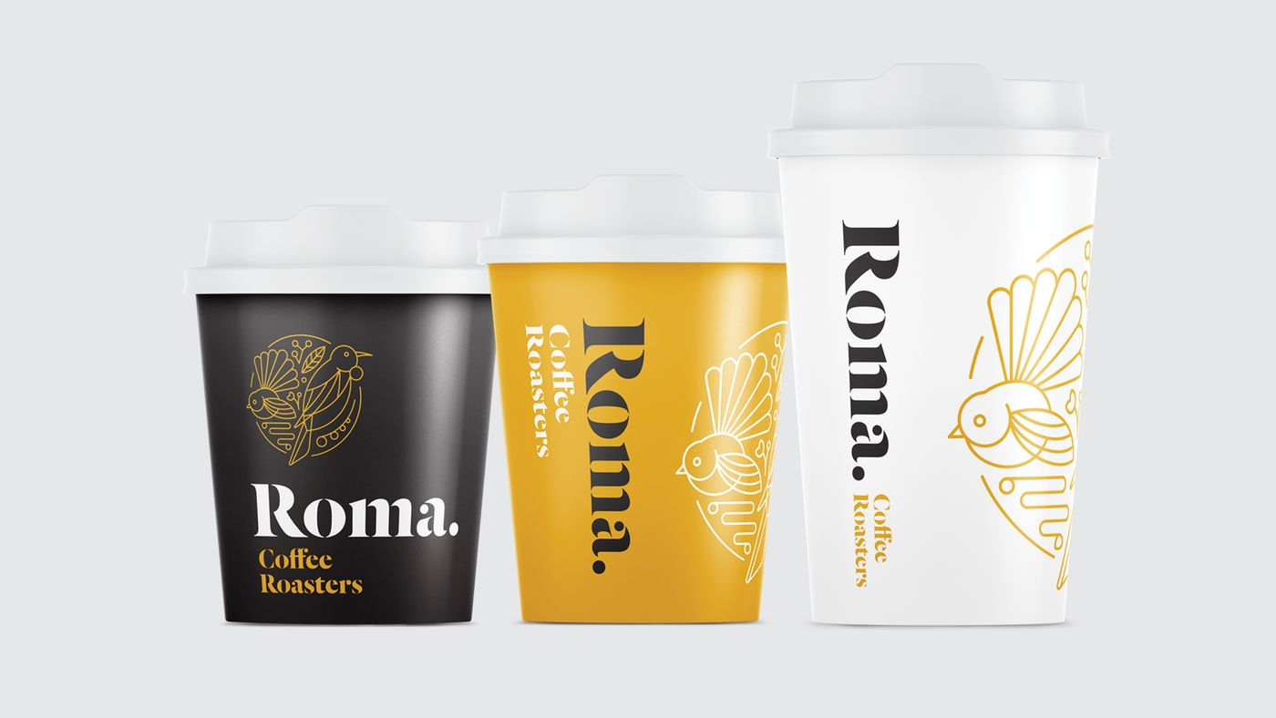 Roma coffee cups