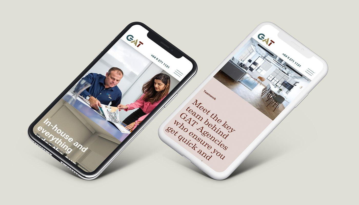 GAT website on mobile