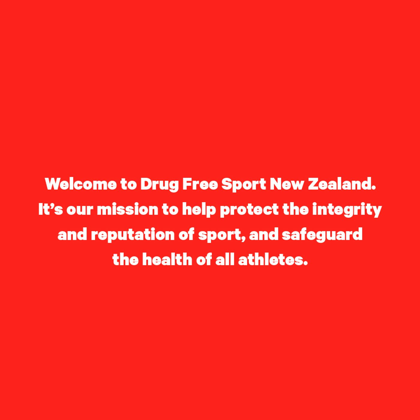 Drug free sport copy
