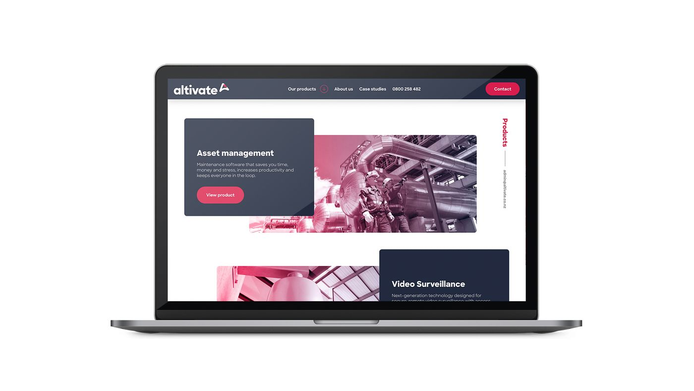 Altivate website on laptop