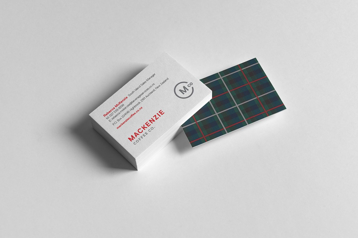 MacKenzie business card design