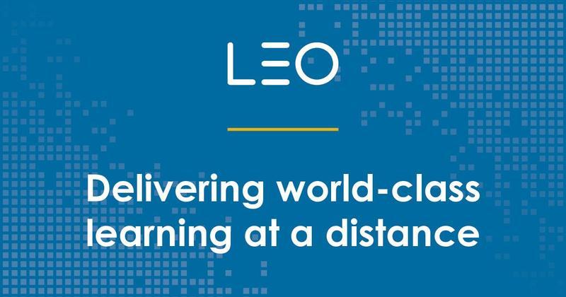 LEO Learning homepage screenshot