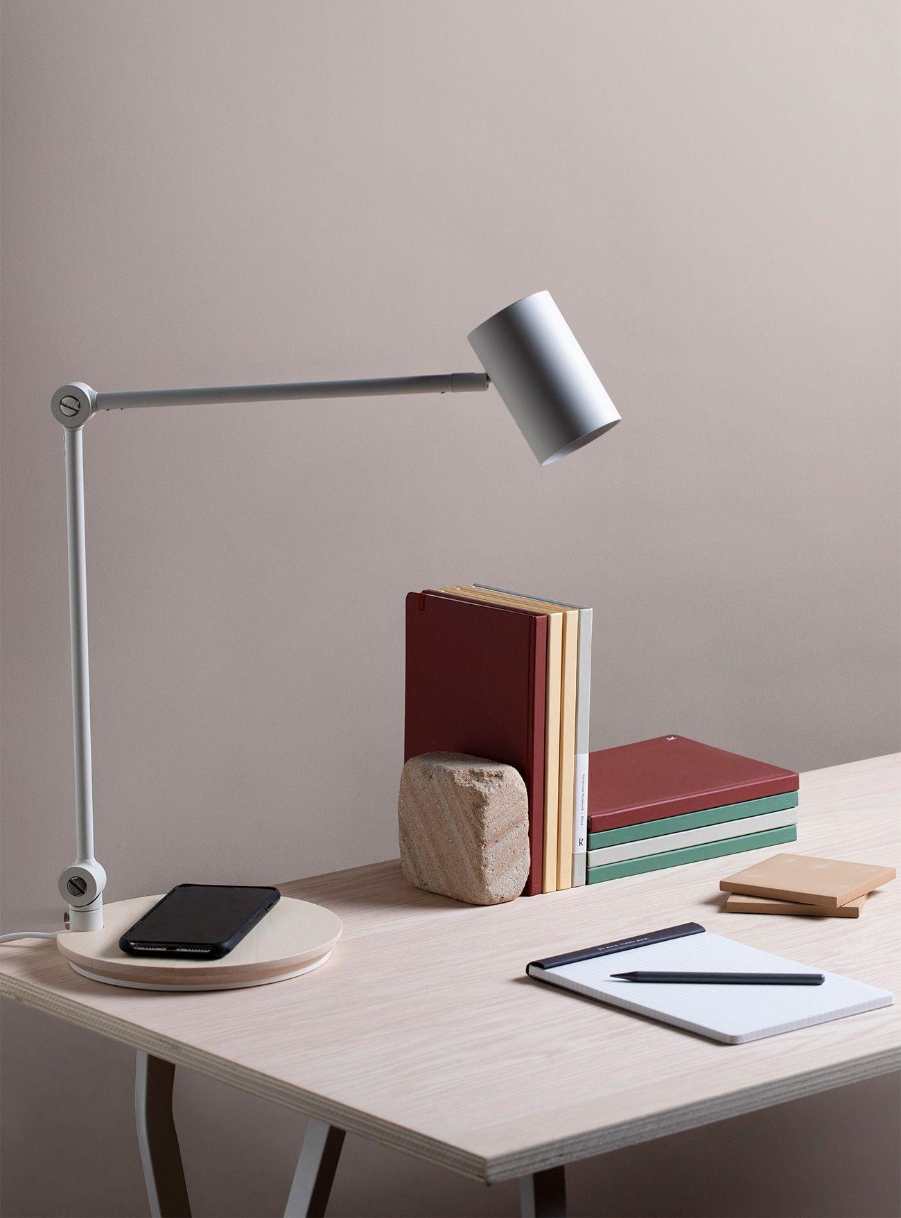 Lamp on desk