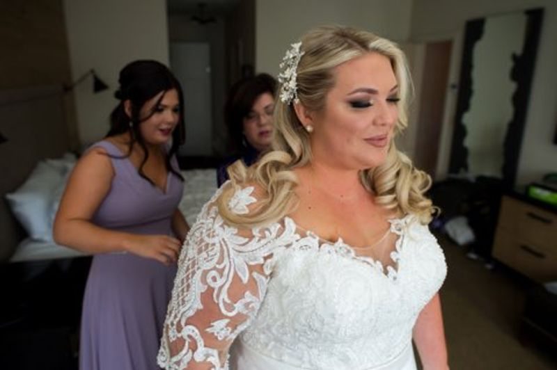 Bride with two bridesmaids