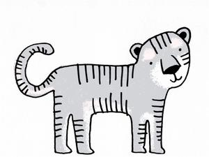 Illustration of a tiger by Alice Walters