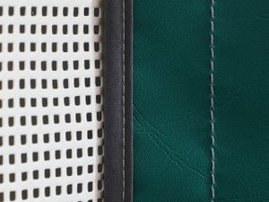 Close up of netting and stitching