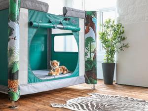 Jungle themed complex care pod in room
