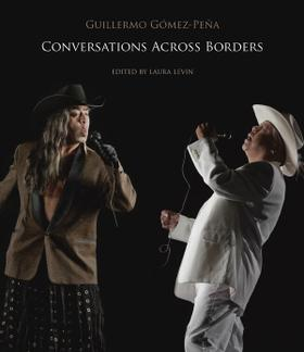 Black book cover with two singers holding microphones. GGP on left side in black and brown. White suited person on right.