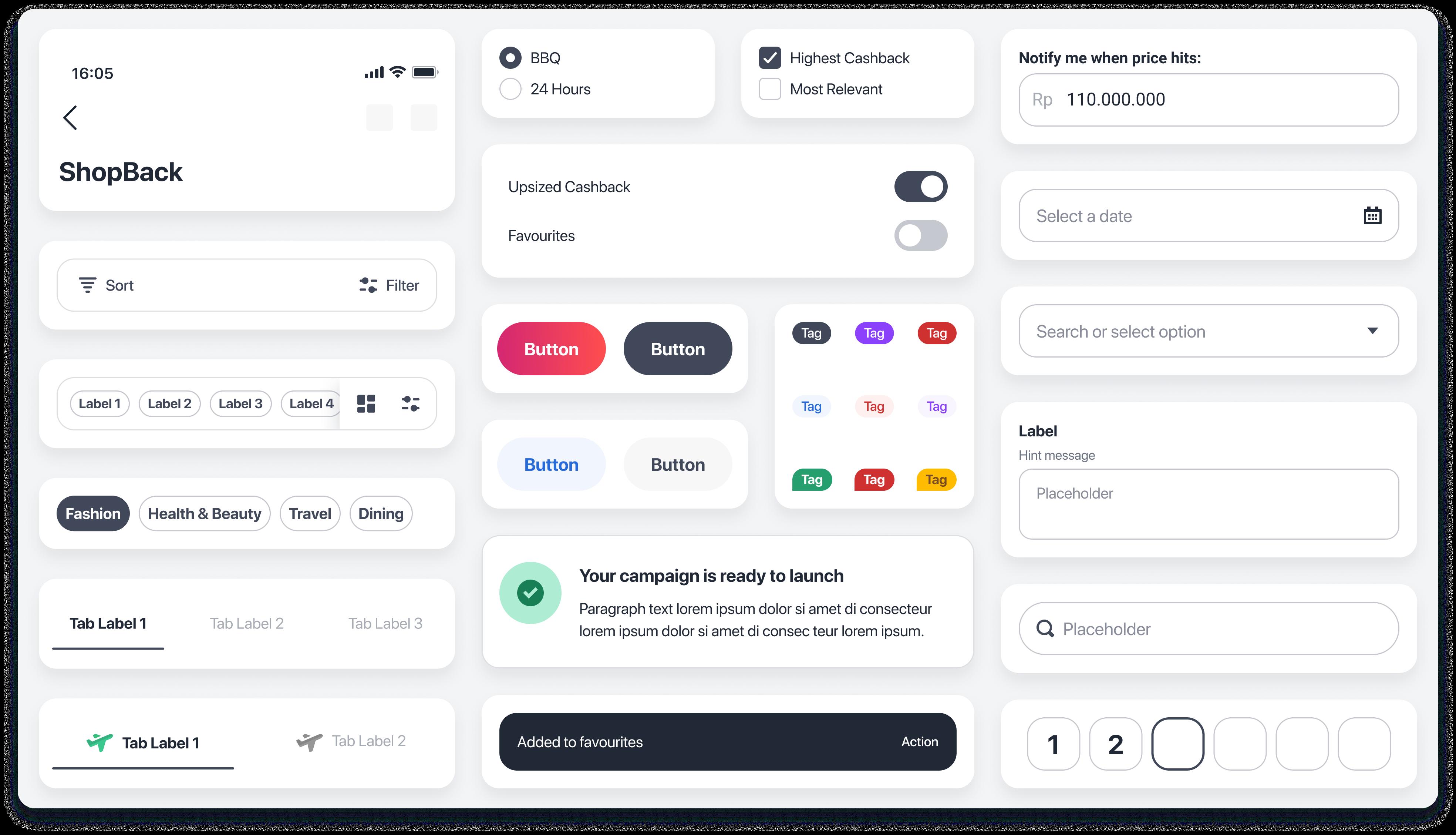 ShopBack Design System