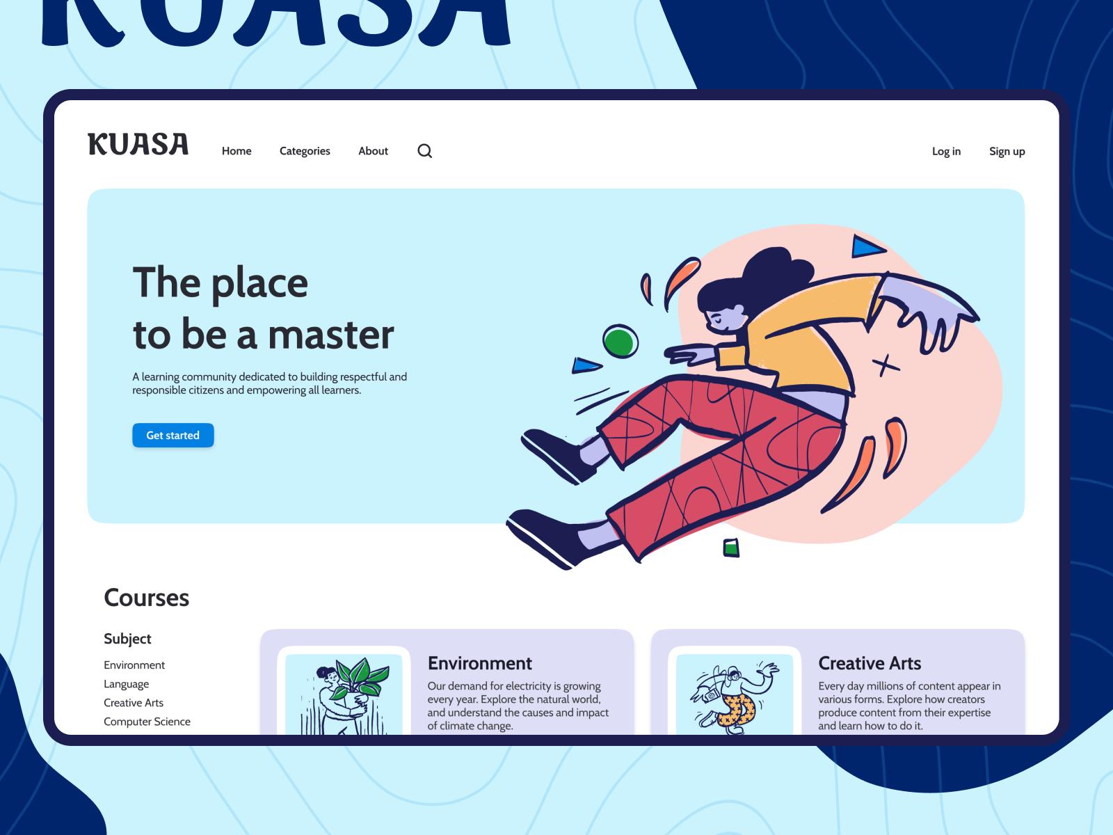 Kuasa - Online learning platform - Landing Page