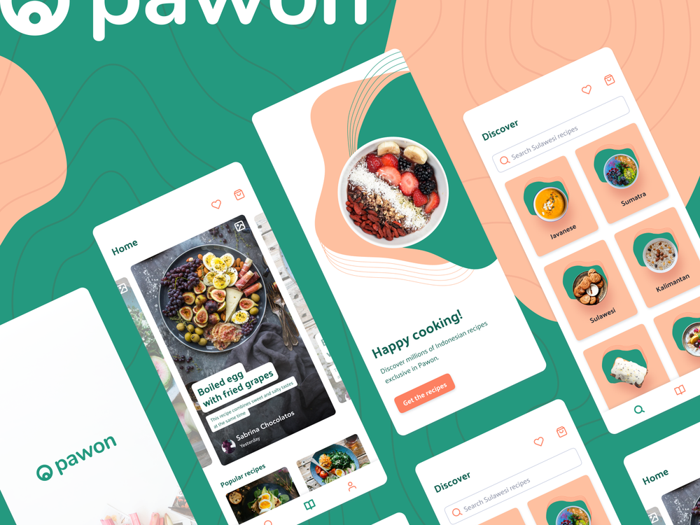 Pawon - Indonesian recipe ideas - UI Design
