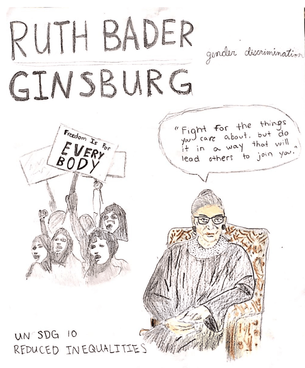 Lily's Ruth Bader Ginsburg MY HERO poster submission.